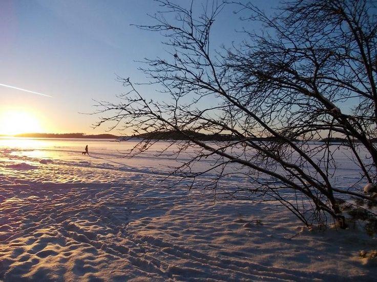 frozen Baltic sea Finland