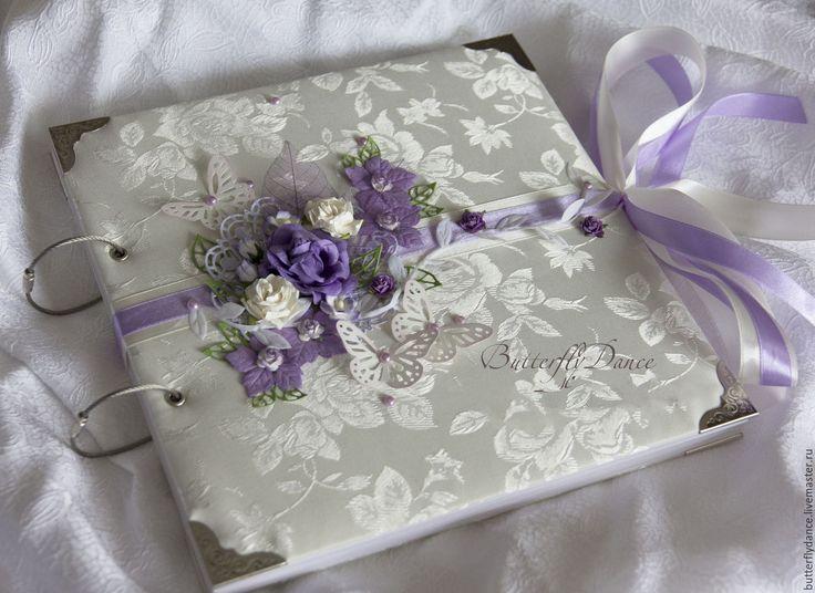 """Свадебный фотоальбом """"Сирень"""" - фиолетовый, фотольбом, свадебный альбом, свадебный фотоальбом"""