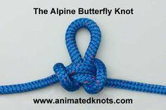 Alpine Butterfly Loop- Uses: It is useful anytime a secure loop is required in the middle of a rope. A good example is when a line of hikers wish to hook on along the length of a shared rope.