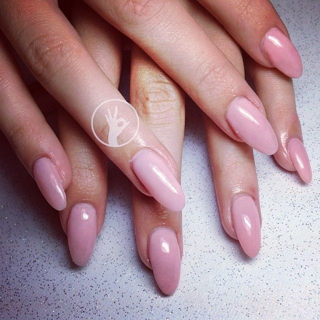 Oval Shaped Nails on Pinterest