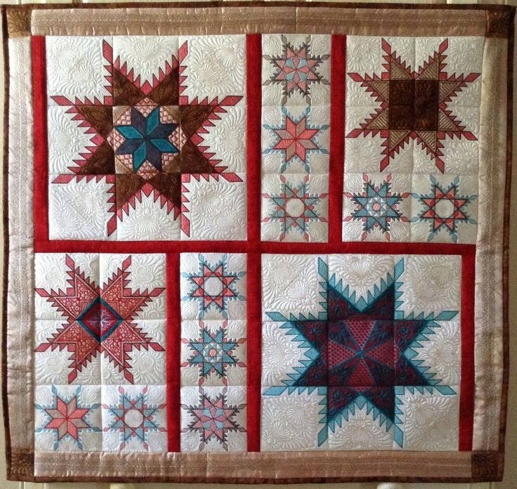 Hoop Sisters Feathered Star - I made this for above our bed