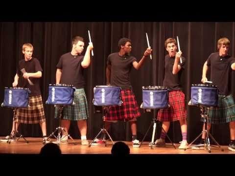 Hot Scots  drum line - 2011 -  Nigel - Talent Show at LHHS...WOAH
