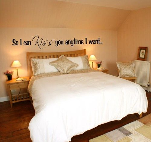 """So I Can Kiss You Anytime I Want"" Decal.----love this:)..."