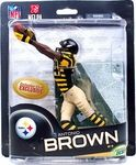 Name: Antonio Brown (Pittsburgh Steelers) Retro Uniform Collectors Club Exclusive Manufacturer: McFarlane Toys Series: McFarlane Toys NFL Sports Picks Football Action Figures Release Date: August 2013 For ages: 4 and up UPC: 843852091389 Details (Description): This exclusive features Antonio Brown in the Pittsburgh Steelers RETRO 1930s Pittsburgh Pirates uniform.