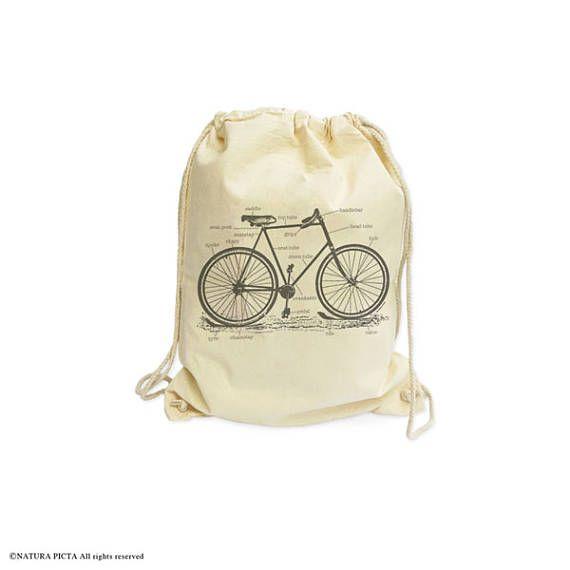 Bicycle drawstring backpack-bike bag-bicycle bag-cyclists