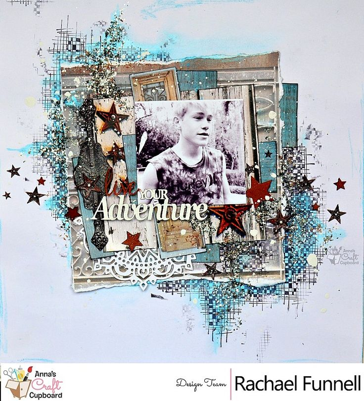 Hello Crafters, Rachael Funnell​ has some amazing mixed media creations to share with you this week, using the 7 Gypsies 'Architextures' collection.  Our next reveal is this absolutely stunning layout titled 'Live your Adventure'  You can find more on her layouts over on Anna's blog...