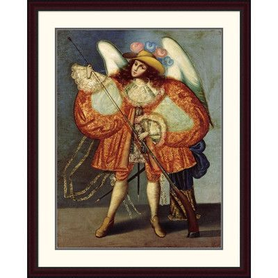 """Global Gallery Arcangel Con Arcabuz Framed Painting Print Size: 44"""" H x 35.15"""" W x 1.5"""" D"""