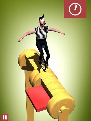 Bamba simon Ducroquet 제작 외발 자전거 타고 균형잡는 단순한 게임