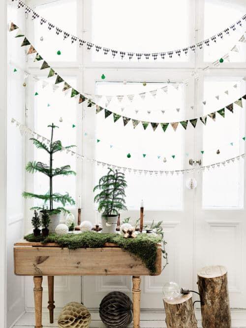DIY Weihnachtsdeko und Bastelideen zu Weihnachten, skandinavische Girlanden basteln aus Papier