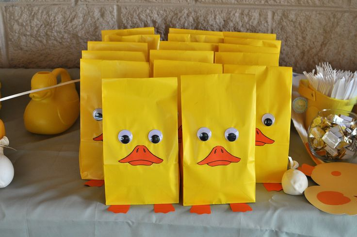 Rubber Ducky Party- goody bags