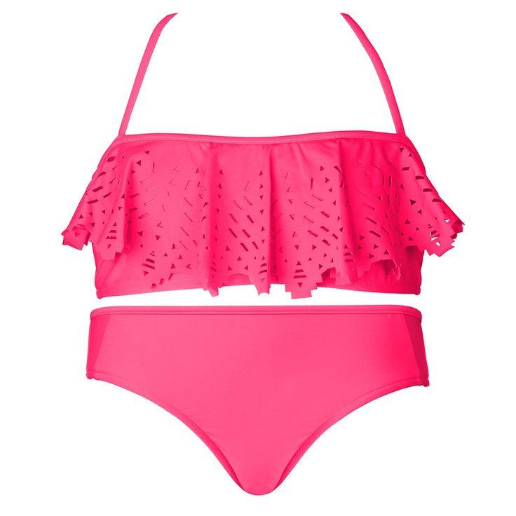 Seafolly Girl Tropical Splice Mini Tube Bikini - Pink Soda -1220