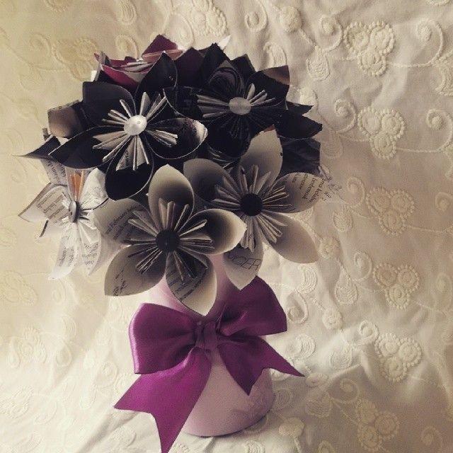 Kusudama flowers in vase