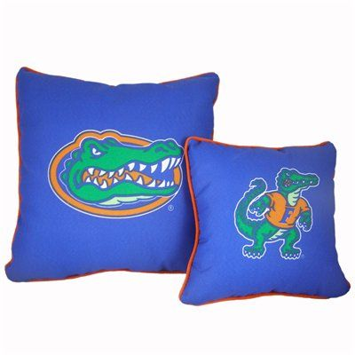 College Covers FLODP1812 Florida Gators Decorative Pillows In Two Sizes  (Set Of 2)