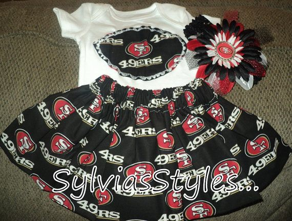 49ers Football Dress set .. and you pick the size by sylviasstyles, $26.99