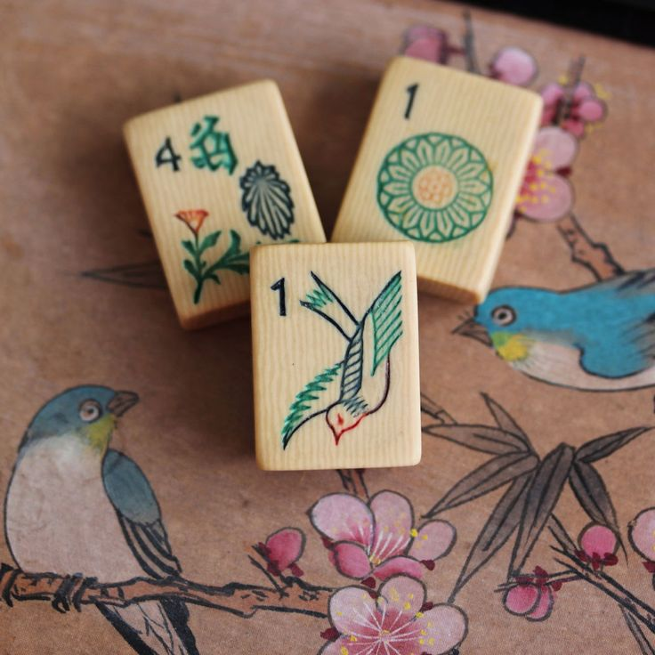 Vintage 1920s, Piroxloid French Ivory Mahjong Game Set, 144 Tiles, Black Box