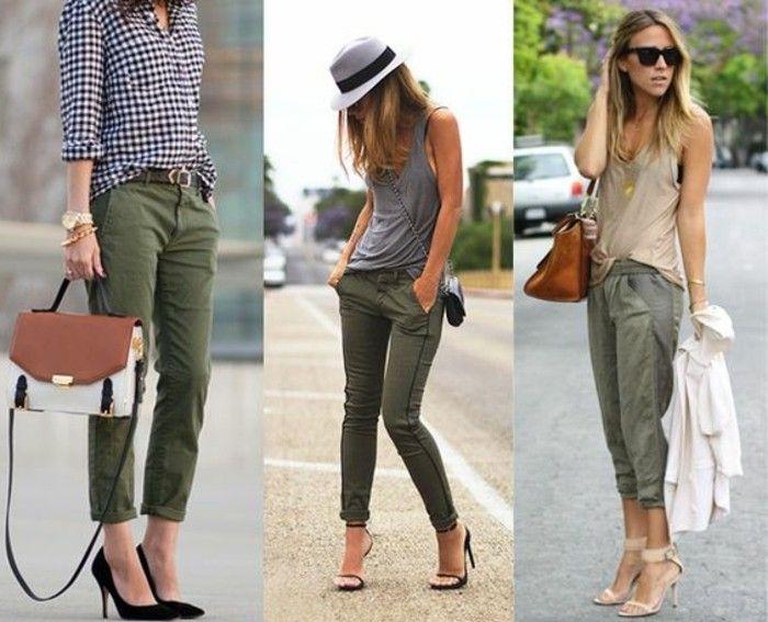 les couleurs qui vont ensemble pour s habiller pantalon khaki avec des sandales noirs et beige