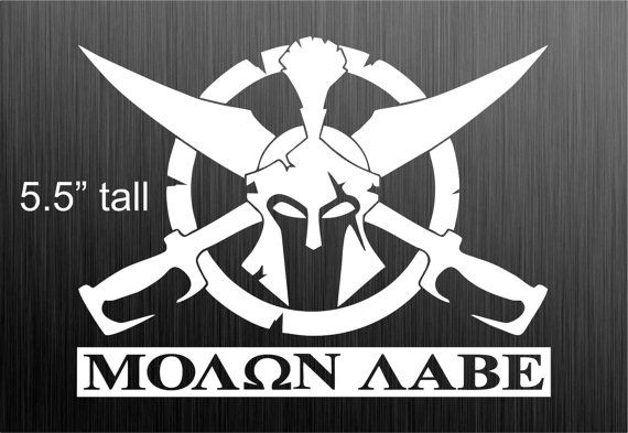 Molon Labe decal sticker USA Spartan Sword Sheild by DieselDecal