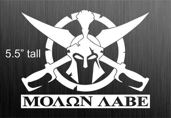 Molon Labe decal sticker USA Spartan Sword Sheild by DieselDecal
