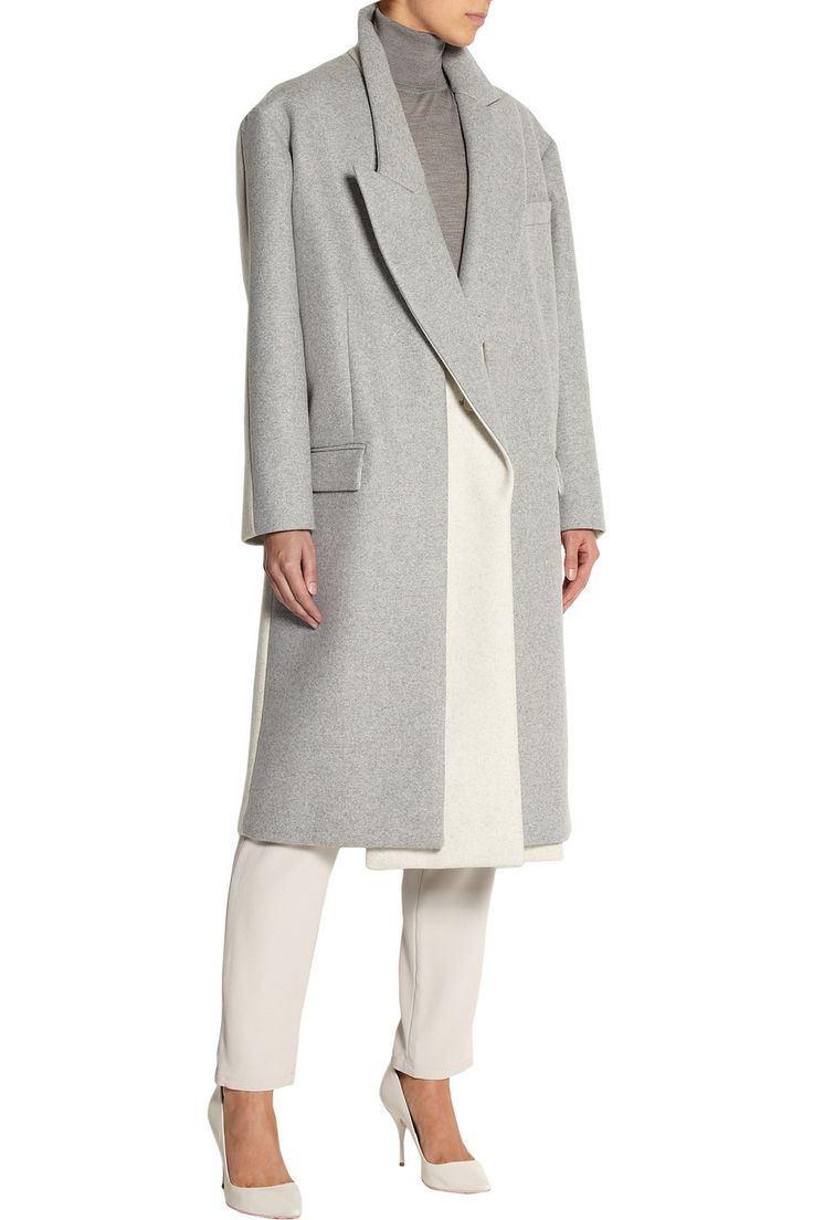 Stella McCartneyCurtis oversized two-tone wool-blend felt coat
