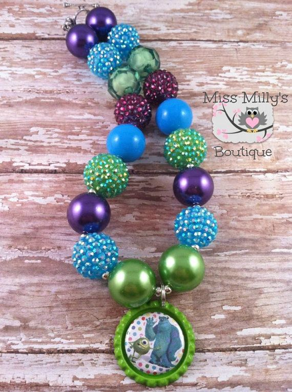Mike and Sully Monsters Inc Girls Chunky by MissMillysBoutique, $16.00