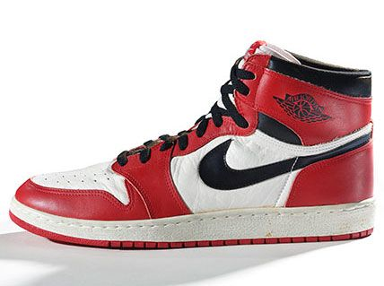 The rise of the Sneaker Culture at the Brooklyn Museum - Nike Air Jordan I,  1985 (Photo: Ron Wood. Courtesy American Federation of Arts/Bata Shoe  Museum)