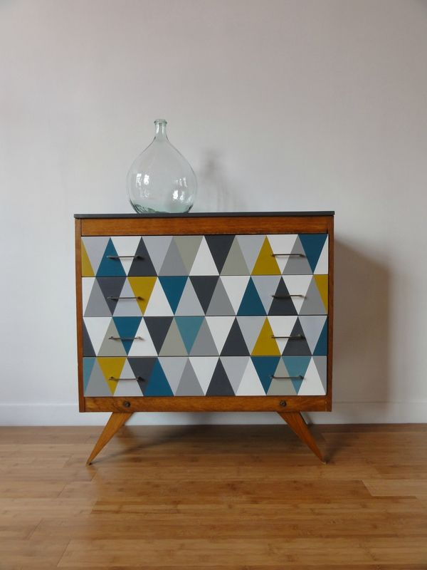 COMMODE 60's ARLEQUIN
