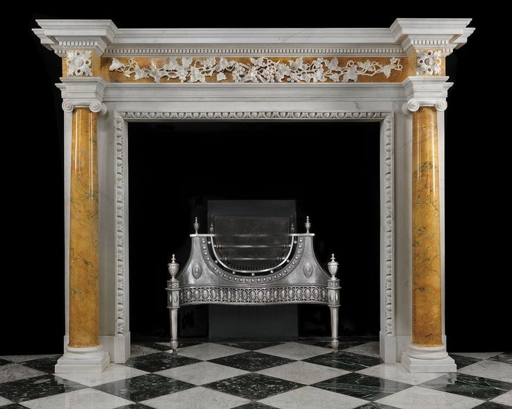 antique marble fireplace mantels. Antique Georgian Fireplace Mantel with Sienna Marble Columns 27 best Fireplaces images on Pinterest  Summary Display