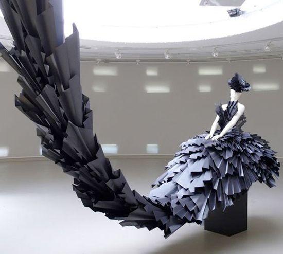 paper dress by zoe bradley