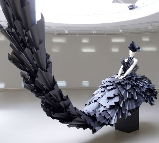 paper dress by zoe bradley