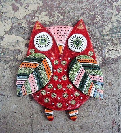 Керамическая СОВА (Интерьерная) - сова,совушка,совушки,Керамика,керамика ручной работы