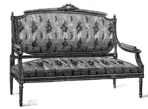 Chaise et fauteuil Louis XVI - sièges aux formes classiques