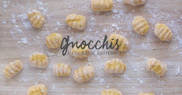 Du coup je me suis lancée dans la confection de gnocchis à la courge butternut, il y'en a tellement sur les étales en ce moment, ça vous donnera des idées.