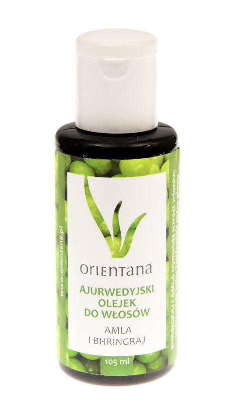 Ajurwedyjski Olejek do włosów AMLA i BHRINGRAJ - Orientana - kosmetyki naturalne - wzmacnia cebulki, przeciwdziała wypadaniu