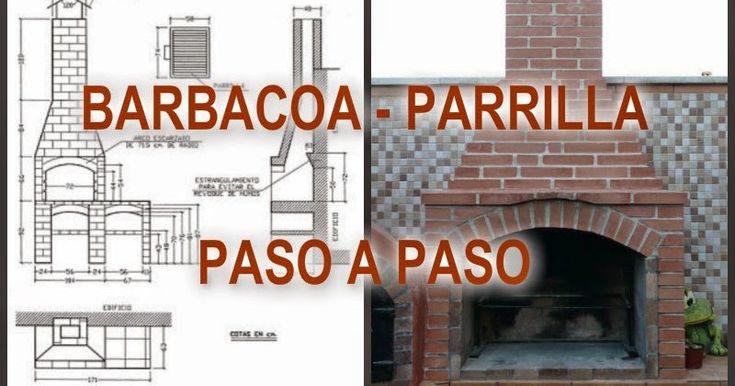 BARBACOA DE LADRILLO PASO A PASO   1ª PARTE   Tutorial completo para la construcción de una barbacoa de obra. Con plano, fotos, víde...