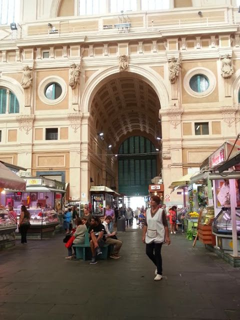 Central market in Livorno, where you can buy fresh food like fish, cheese, meat etc.