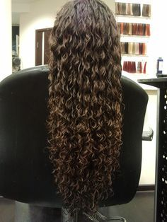 ultra long spiral perm