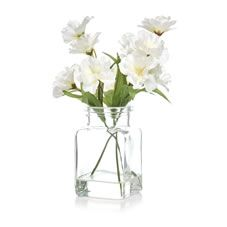 Wilko Blossom In Clear Ridge Square Vase