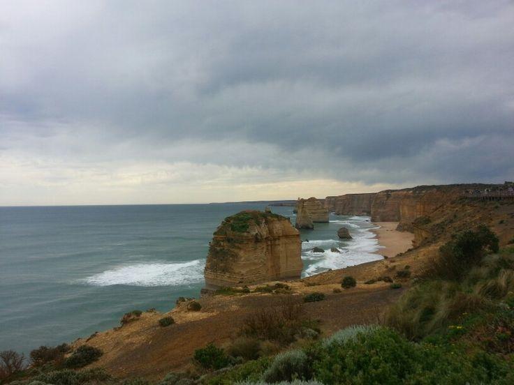 A sky, a sea and a stone