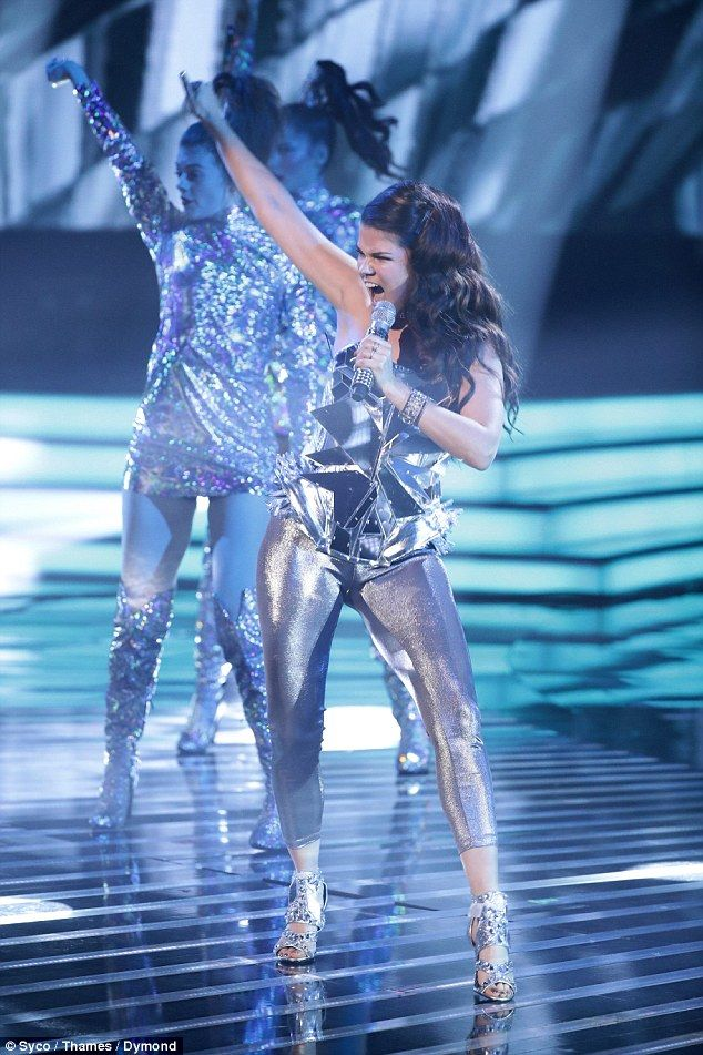 Setting the bar high! Sharon Osbourne's first act Saara Aalto kicked off The X Factor's 'disco week' with a funky rendition of Donna Summer & Barbra Streisand's No More Tears