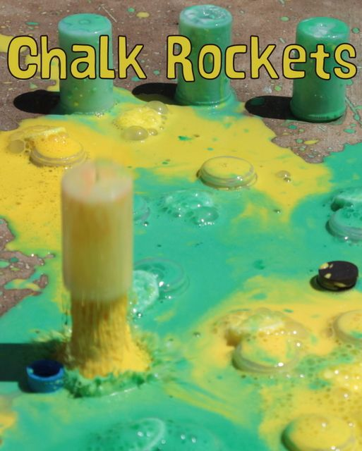 Alka-Seltzer Chalk Rockets. TOTALLY DOING THIS!!