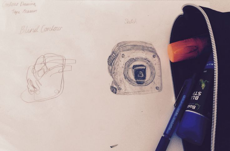 Day 4~ Contour Drawing~ Tape Measure