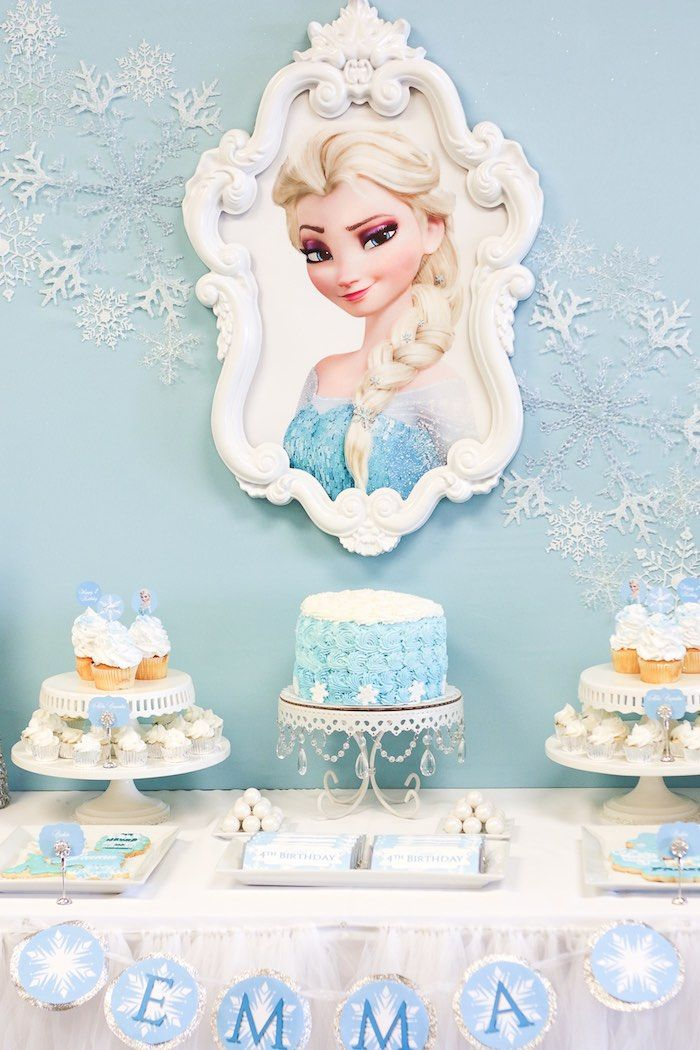Cake + Sweets from a Frozen Dessert Table + Birthday Party via Kara's Party Ideas KarasPartyIdeas.com (2)