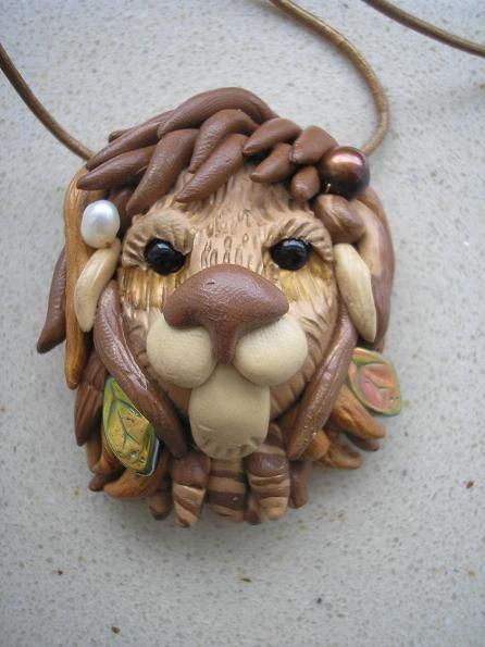 how to make polymer clay lion