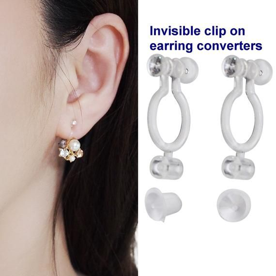 Non-pierced White Round Pearl Small Comfy Wear U Shape Clip on Earrings Gift