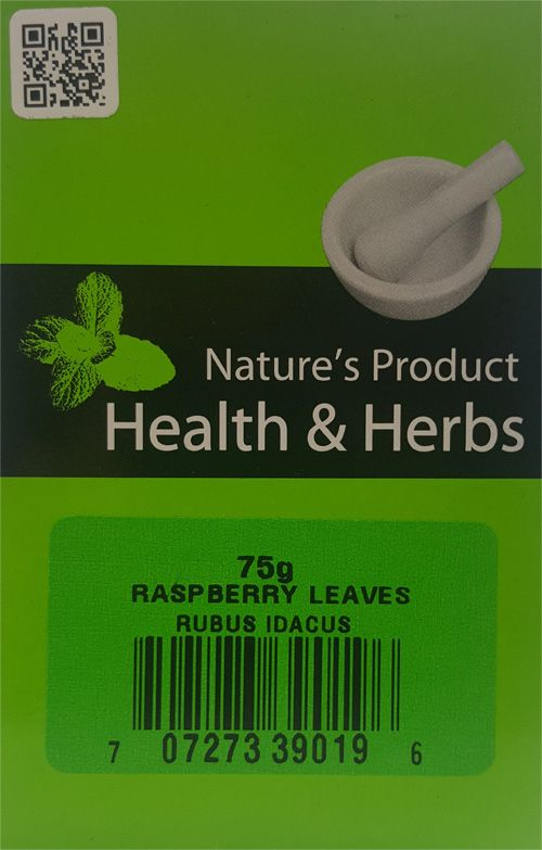 Natures Product Health & Herbs Raspberry Leaves 75g Rubus Idacus