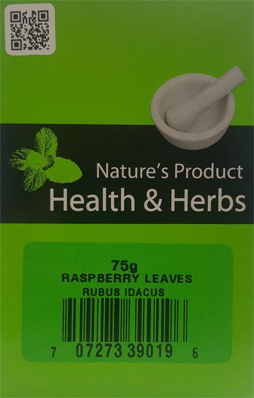 Natures Product Health & Herbs Raspberry Leaves 75g Rubus Idacus