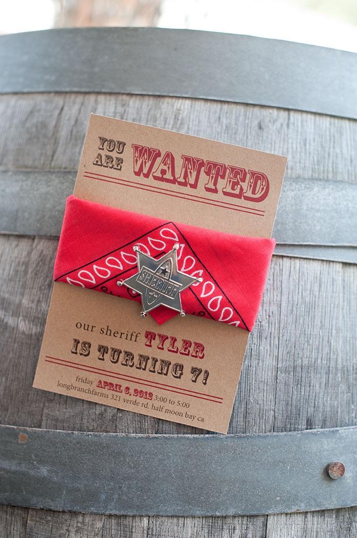 cowboy invitations