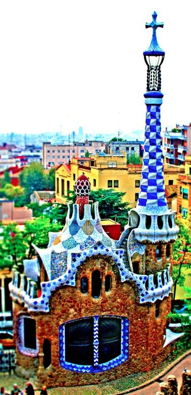 Gaudi's gingerbread house at Parc Guell in Barcelona, Spain • photo: baldheretic on Flickr