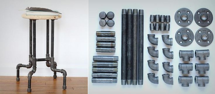 DIY Industrial Pipe Stool | http://www.jebiga.com/diy-industrial-pipe-stool/