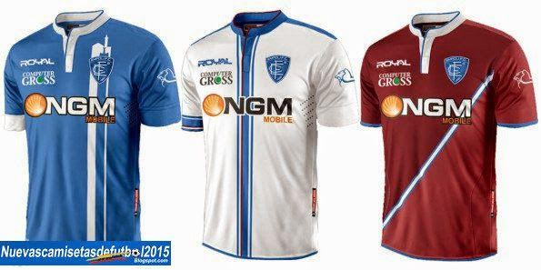 Nuevas camisetas de futbol 2014 2015 2016: Camiseta Serie A 2014 2015:Camiseta EMPOLI Royal 2014 2015